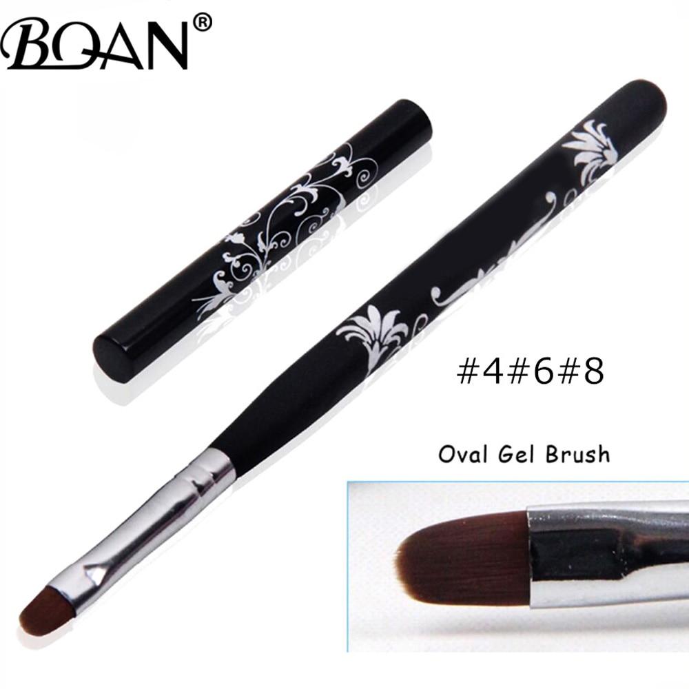 BQAN #4 #6 #8 #10 УФ-гель для дизайна ногтей лак Краски кисть для ногтей, деревянная ручка, вышитые цветы, инструменты для маникюра