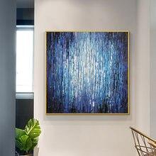 Абстрактная фиолетовая синяя картина маслом 100% ручная роспись