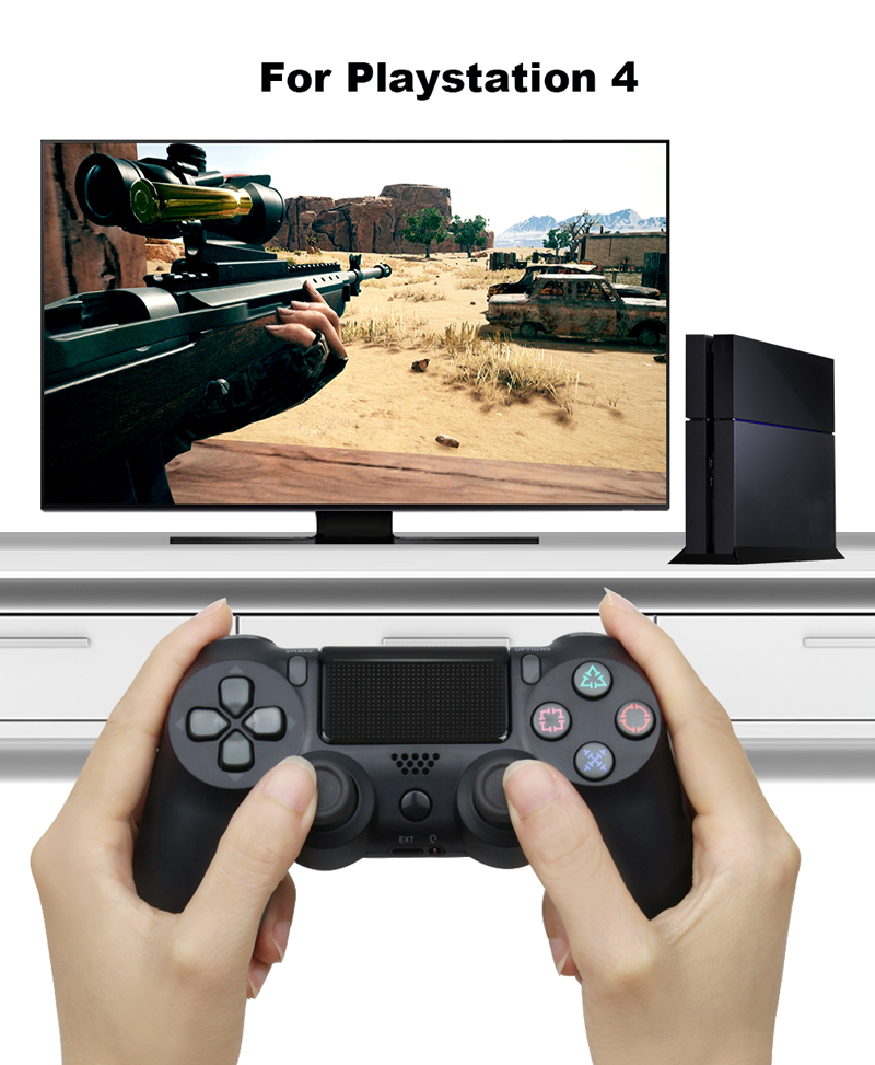 Bluetooth Gamepad and Wireless Game controller with Audio Function for PS4 and PS3 1