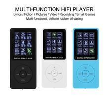 Mini Mp3 ultra-cienki ekran MP3 1 8 karta wideo HD odtwarzacz Mp3 sport Walkman odtwarzacz Mp3 odtwarzacz muzyki z bluetooth miniaturowe radio fm tanie tanio int box pro