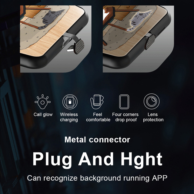 Phone Case For iphone11 /11 pro /11 pro Max Tempered Glass Craft Flash Sound Control Light Incoming Call Flash For iPhone Case 2