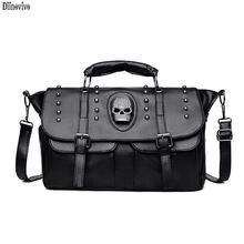 Женская сумка тоут с заклепками в стиле панк