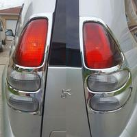 Abs chrome acessórios do carro luz da cauda capa para toyota land cruiser prado fj120 2003- 2008