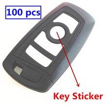 Autocollant de clé de voiture en époxy ou en métal 3D, 100 pièces, 8mm, 10mm, 11mm, 12mm, 14mm, emblème de la coque de la clé télécommande, Badge de style