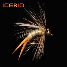 ICERIO 12PCS Talão de Bronze Cabeça Príncipe Stonefly Ninfas Caddis Voar Truta Fly Fishing Lures