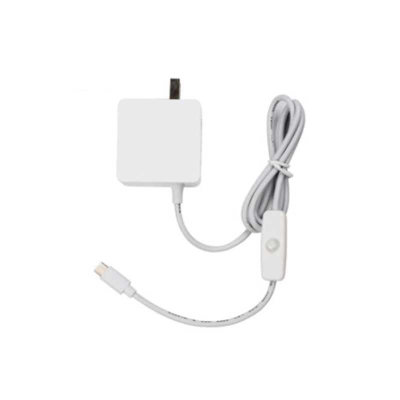 Power Supply Adapter Cable 5V3A USB-C Charger With Switch For Raspberry Pi 4B