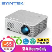 BYINTEK MOON K15 Full HD 1080P Android wifi светодиодный 1920x1080 lcd видео проектор для Iphone смартфонов