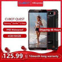 "Cubot هاتف خلوي كويست IP68 رياضي جوّال المهامّ الوعرة هيليو P22 ثماني النواة 5.5 ""NFC 4000mAh 4GB + 64GB أندرويد 9.0 Face ID Global Band"
