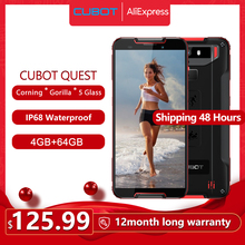 "Cubot Quest Cellphone IP68 Sports Rugged Phone Helio P22 Octa Core 5.5"" NFC 4000mAh 4GB+64GB Android 9.0 Face ID Global Band"