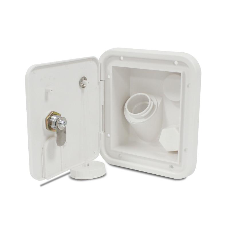 Universal White Gravity Water Hatch/Water intake Fill Dish Lock Keys RV Hatch Trailer Camper TYTXRV(China)