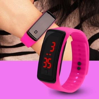 Girls Touch LED Electronic Watch Sports Kids Hello Girls Kitty Watches Children Montre Wristwatch Zegarek Horloges Reloj Hombre