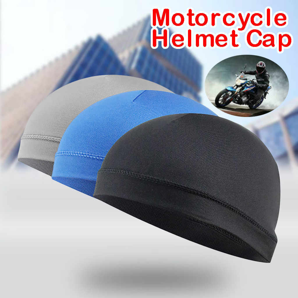 2019 Hot Cycling Caps Moisture Wicking Cooling Sunscreen Helmet Inner Liner Beanie Dome Cap Sweatband #ZH