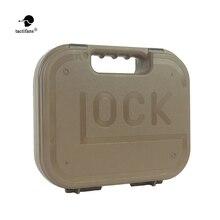 Glock tático abs caso pistola coldre caixa de engrenagem dura arma saco acolchoado forro de espuma para caça tiro acessórios