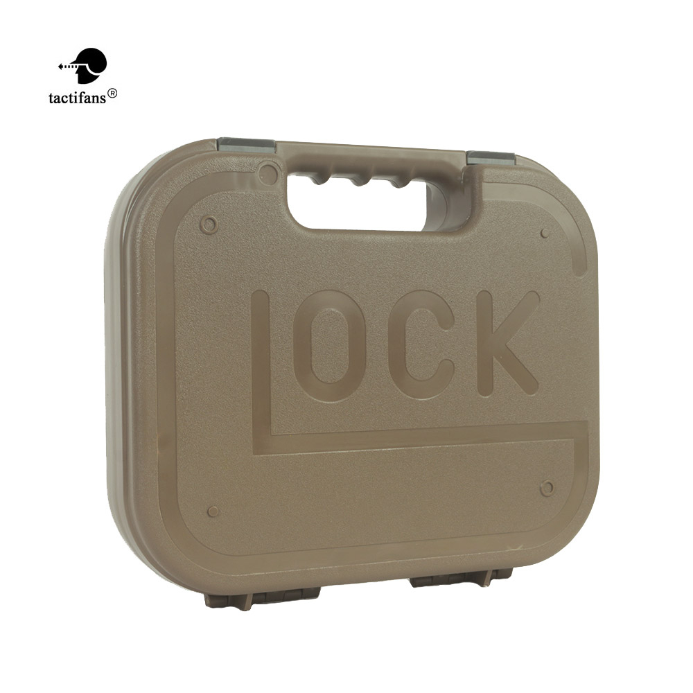 Newest Tactifans GLOCK ABS Pistol Case Tactical Hard  Gear Box Gun Bag Padded Foam Lining For Hunting Accessories  Holster