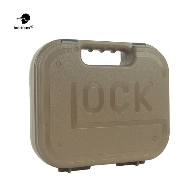 Tactical GLOCK ABS Pistol Case Holster Hard Gear Box Gun Bag Padded Foam Lining For Hunting Shooting Accessories