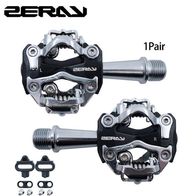 ZERAY MTB Pedale mit Cleat ZP 108S Kompatibel mit SPD Self locking Aluminium Legierung Doppelseitige multifunktions Fahrrad Zubehör