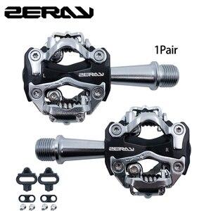 Image 1 - ZERAY MTB pedallar Cleat ile ZP 108S ile uyumlu SPD kendinden kilitli alüminyum alaşımlı çift taraflı çok fonksiyonlu bisiklet aksesuarları