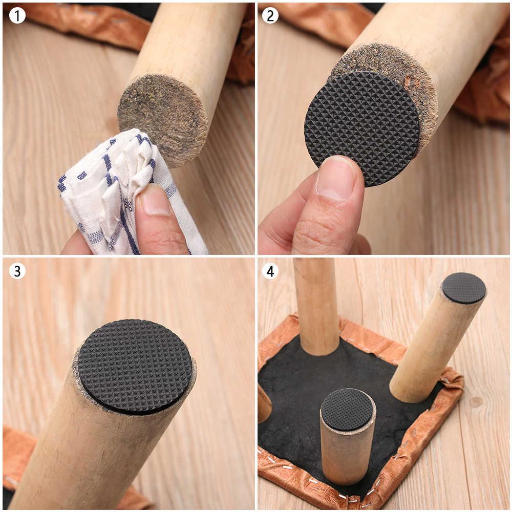 Heißer 1/2/6/15/24PCS Weiche Verdickung Stoßfänger Stuhl Fitting Selbst-adhesive Boden schutz Anti-rutsch-matte Anti Reiben Möbel Bein Pad