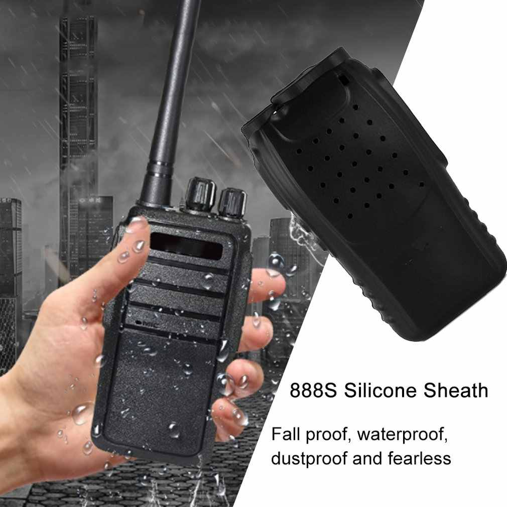 כף יד רך סיליקון קייס הגנת סיליקון כיסוי עבור Baofeng BF-888S 888S Retevis H777 H-777 שתי דרך רדיו ווקי טוקי