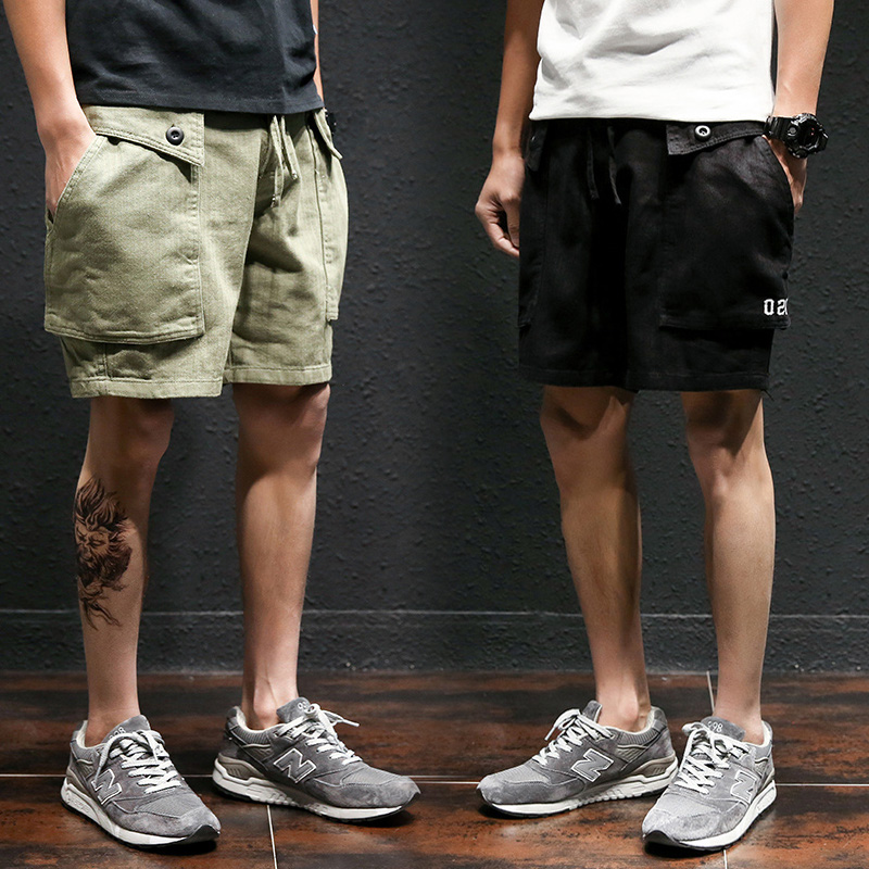 5XL 4XL Army Green Joggers Beach Shorts MensShorts Men Hip Hop Modis Cargo Shorts Male Loose Leisure K Pop Solid Hombre Shorts