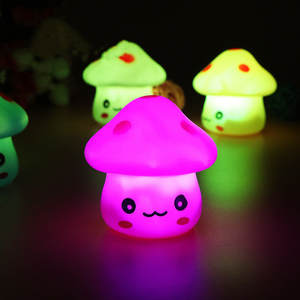 Toy Mushroom-Lamp Party-Lights Color-Changing Baby Gift LED Mini New Soft Novelty Luminous