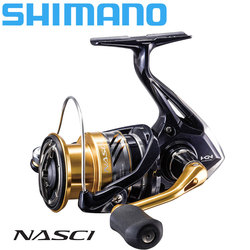 SHIMANO NASCI Spinning Fishing Reel 4+1BB Hagane Gear Larger Spool Capacity Max 11kg Drag X-Ship Saltewater Fishing Reels