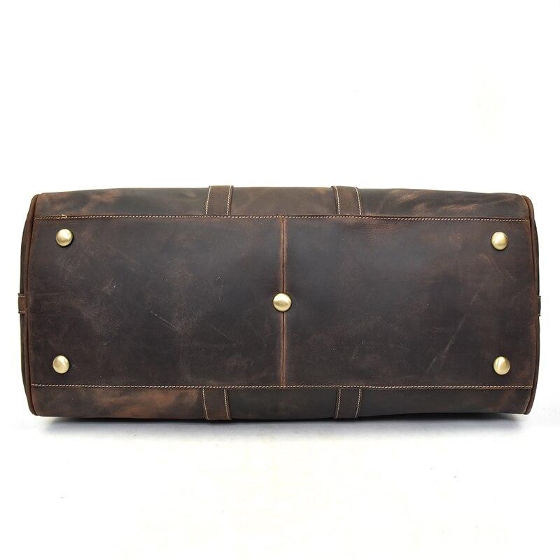 MAHEU мужская дорожная сумка из натуральной кожи, большая дорожная сумка на выходные, мужская сумка из коровьей кожи, сумка для путешествий, ру... - 6