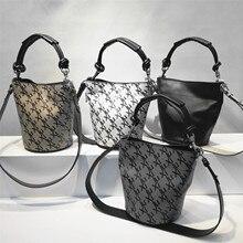 Сумка-мешок женская сумка через плечо сумка из натуральной кожи с принтом букв дизайнерская сумка трендовая Прямая Высокое качество
