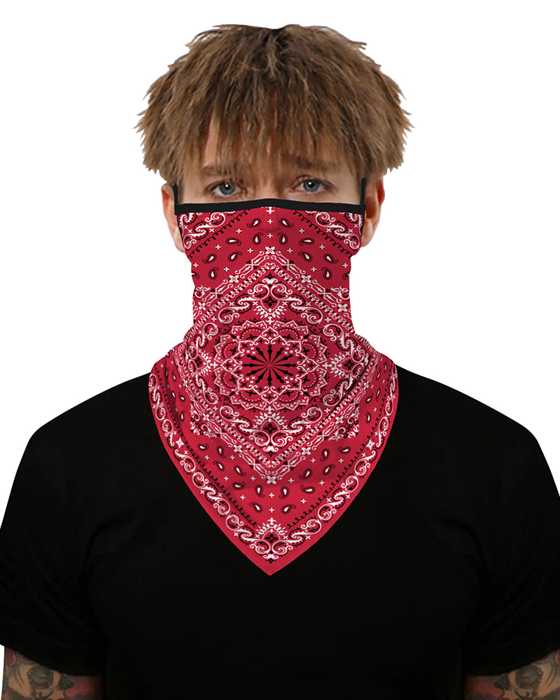 2020 New Fashion Print Breathable Ear Loop Face Cover Bandana Windproof Dust Outdoors