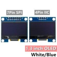 10 個 1.3 インチのoledモジュールホワイト/ブルーspi/iic I2C通信色 128X64 1.3 インチoled液晶ledディスプレイモジュール 1.3 「oledモジュール