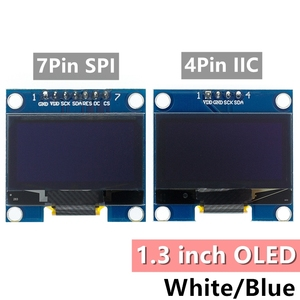 Image 1 - 10 個 1.3 インチのoledモジュールホワイト/ブルーspi/iic I2C通信色 128X64 1.3 インチoled液晶ledディスプレイモジュール 1.3 「oledモジュール