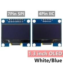 10 stücke 1,3 inch OLED modul weiß/blau SPI/IIC I2C Kommunizieren farbe 128X6 4 1,3 inch OLED LCD LED Display Modul 1.3