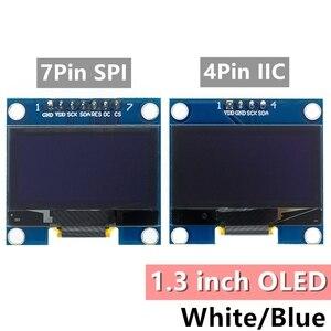 "Image 1 - 10pcs 1.3 inch OLED module white/blue  SPI/IIC I2C Communicate color 128X64 1.3 inch OLED LCD LED Display Module 1.3""OLED module"