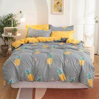 Svetanya INS plaid rosa ananas Set di biancheria da letto biancheria da letto in poliestere in microfibra Twin Full Queen King copripiumino Set federe