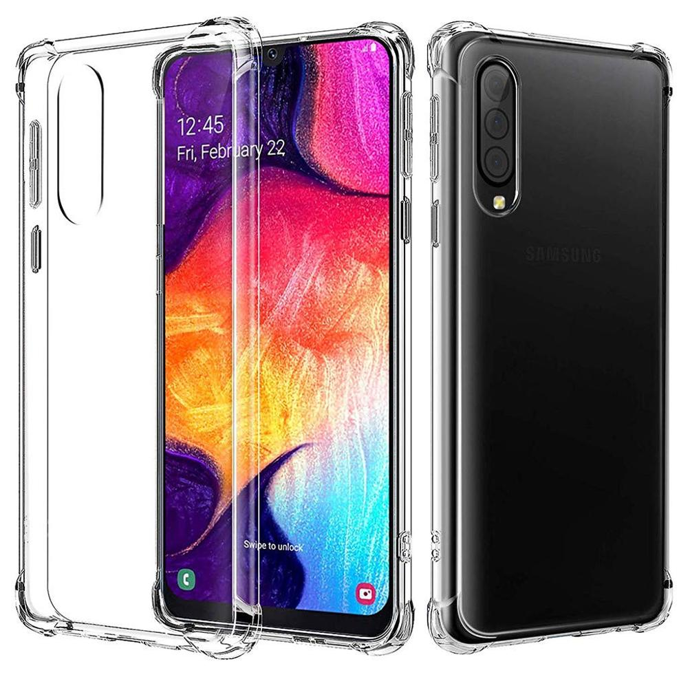 Airbag Transparent case For <font><b>Samsung</b></font> <font><b>A50</b></font> soft TPU Coque shell capa on For <font><b>Samsung</b></font> A50S A 50 50S <font><b>A505F</b></font> A507 SamsungA50 Bumper case image