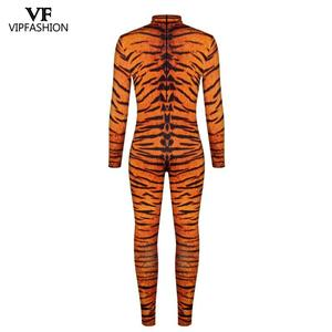 Image 3 - VIP FASHION 2019 Halloween Cosplay Costumes For Men Leopard 3D Printing Animal Zentai Snake Muscle Bodysuit Jumpsuits