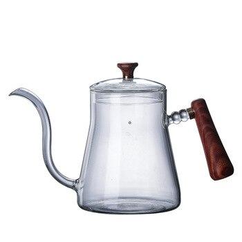 ห้าบ้านความร้อนแก้วกาแฟหม้อ Hand Punch Fine ปากหม้อกาแฟหม้อหุ้นหม้อชุดปรับแต่งโลโก้