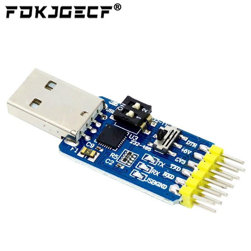 Преобразователь 6 в 1 с USB на UART TTL RS232 USB TTL на RS485, модульный последовательный адаптер для Arduino, 1 шт.