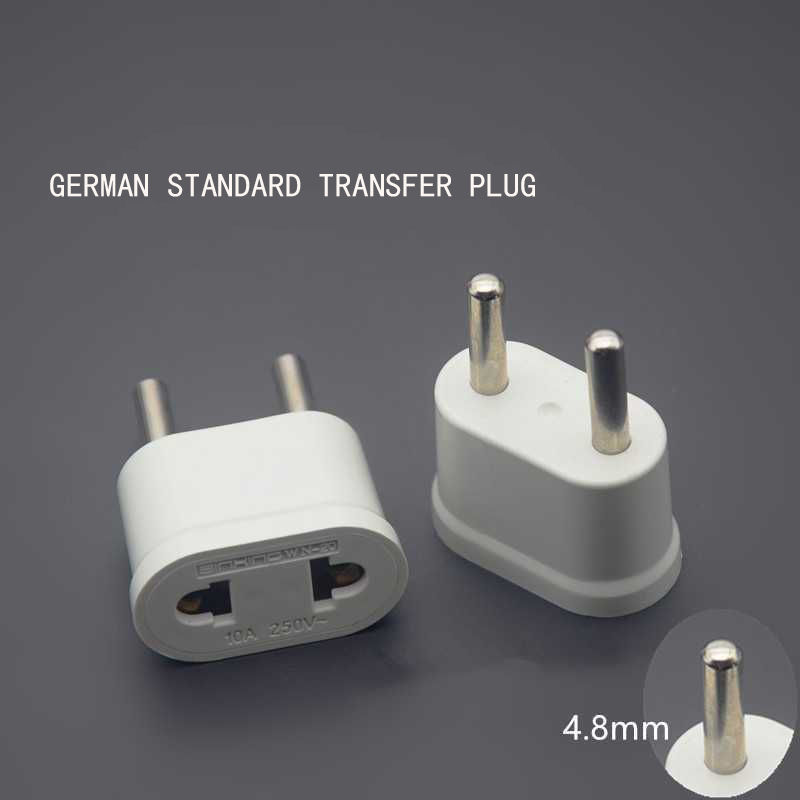EU Plug Adapters German Standard European Plug Mini Stable Safety AC Power Adapter Travel Current Socket Converter Wall Charger