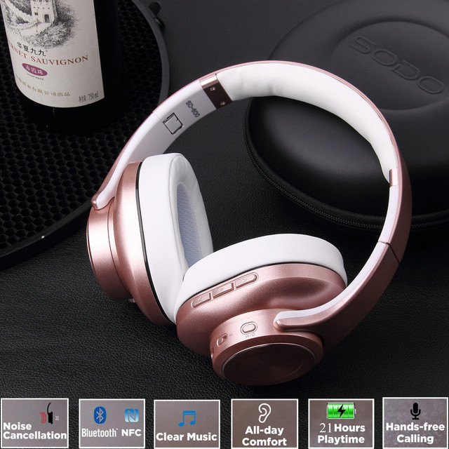 Bluetooth Headphones SODO Headset Earbuds with Microphone  2