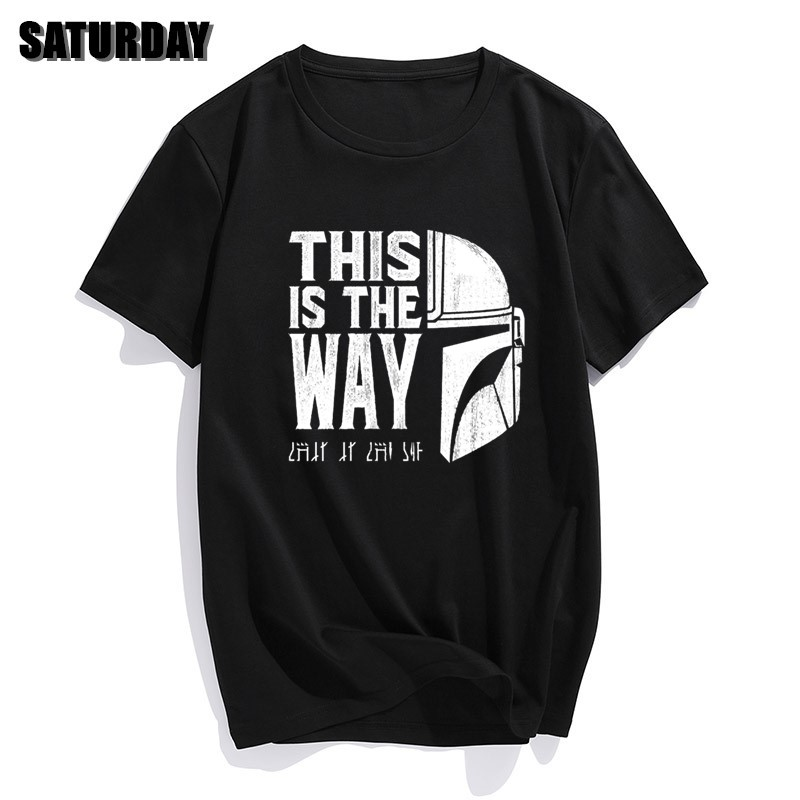 Men The Mandalorian T Shirts 2020 Summer Tops Tees Cotton Short Sleeve Star Wars This Is My Way Streetwear Crew Neck T-shirts