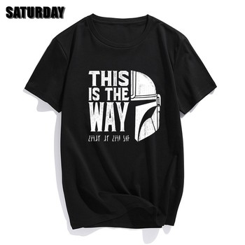 Men The Mandalorian T Shirts 2020 Summer Tops Tees Cotton Short Sleeve This Is My Way Streetwear Crew Neck T-shirts graphic tees crew neck men new dead kennedys cambodian skeleton holiday in cambodia short sleeve gift shirts