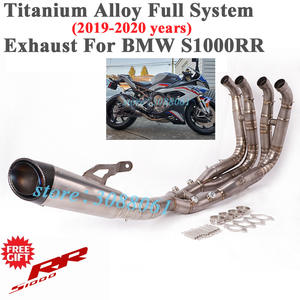 Exhaust-Escape Muffler Mid-Link-Pipe Carbon-Fiber Slip-On Motorcycle Titanium-Alloy Full-System