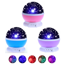 LED Night Lamp For Home children's night light Projector Star Moon lamp Starry Sky Christmas Decoration Gift bedside table lamp