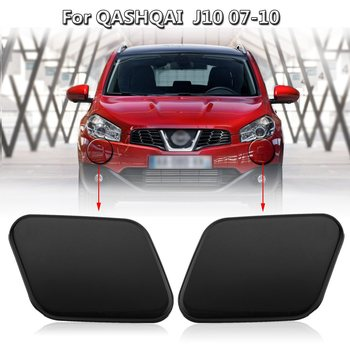 Car Front Right Left Headlight Washer Nozzle Jet Cover Cap For Nissan Qashqai J10 2007-2010 image