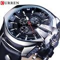 CURREN армейские военные пилотные Дизайнерские наручные часы с большим циферблатом модные водонепроницаемые мужские кварцевые роскошные Бре...