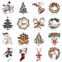 Snowman Crutches-Bells Badges-Gloves Decoration Cloth-Dress Christmas-Brooches Gift Socks
