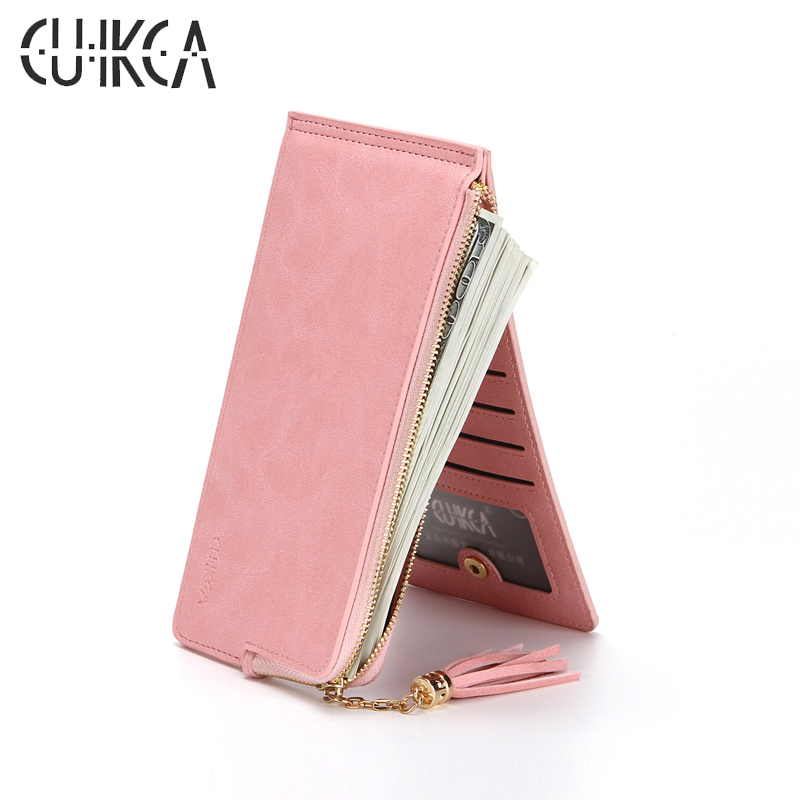 Women Wallets PU Leather Casual Long Purse Credit Cards Holder Evening Clutch Bag,Purple