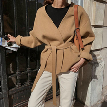 90%Wool Coat Handmade Plus-Size Women Short Korean Double-Sided Winter Casual High-End