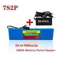 2021 NEUE 7s2p akku 29,4 V 7800mah Li-ion batterie mit 20A balance BMS elektrische fahrrad roller mit ladegerät für verkauf